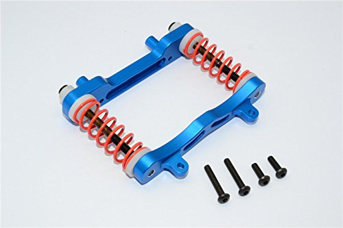 Axial Yeti XL Monster Buggy Upgrade Parts Aluminum Front Bumper Absorber - 1 Set Blue