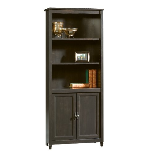 Sauder 409046 Edge Water Library With Doors, L: 29.29