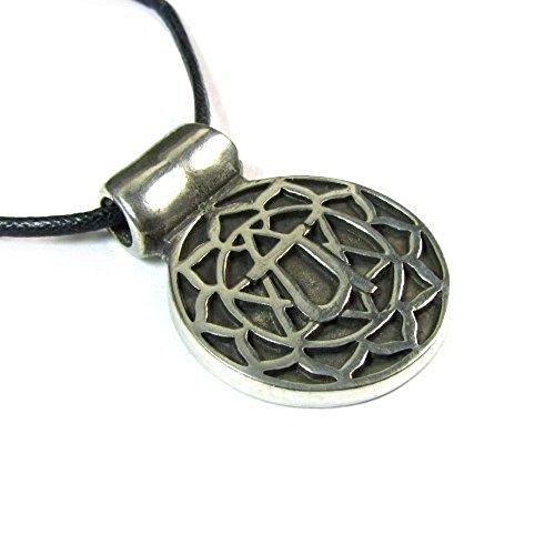 Anahatha, the Heart Chakra Pendant on Corded Necklace Pendant Corded Necklace