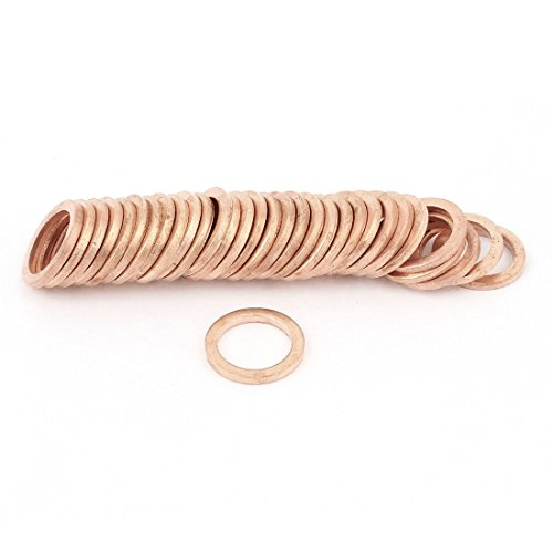 Copper Washer - SODIAL(R) 10mmx14mmx1.5mm Copper Crush Washer Flat Seal Ring Gasket (10mm Washers)
