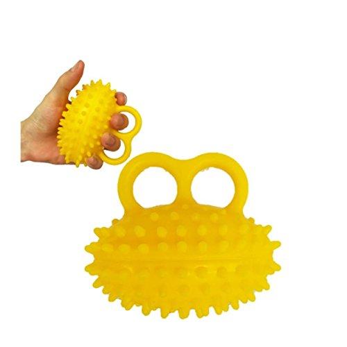 Hand Exercise Balls, Therapy Finger Grip Strengthener,Elderly Exercise Hand Grip Wrist Force Gripping Ball Finger Strength Rehabilitation Training Equipment by Bloomoak