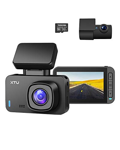 XTU Dual Dash Cam I 1440P+1080P Dash Cam Front and Rear Camera, Single Front 4K Camera Built-in WiFi/GPS, HD Night Vision, 2.4