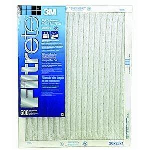 20x25x1 Filrete Filter - 3m Disposable Furnace Filter