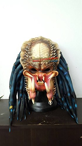 [1:1 Elder Predator Replica Mask Latex Helmet Cosplay Costume] (Latex Wolf Suit)