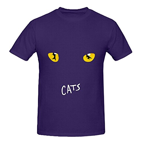 Ernie Mask (Andrew Lloyd Webber Cats Chicago Musical Revue Hits Men Graphic Tee Shirt Purple)