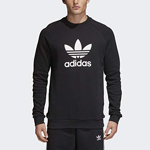 adidas Trefoil Warm-Up Crew Sweatshirt Men's Black