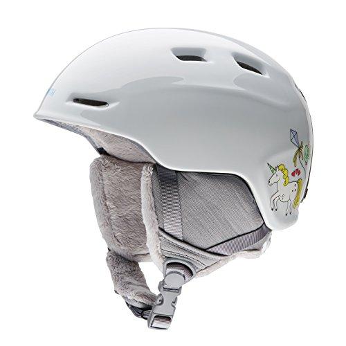 Smith Optics Zoom Youth Junior Ski Snowmobile Helmet - White Fairytale / Medium