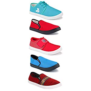 Camfoot Sports Running Shoes/Casual/Sneakers/Loafers Shoes for Men Multicolor (Combo-(5)-1219-1037-1216-1140-1142)
