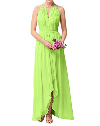 Gruen Einfach Festlichkleider La Partykleider Abendkleider Brau A Chiffon Rock Linie Brautjungfernkleider mia Langes Apfel SOwAqOg