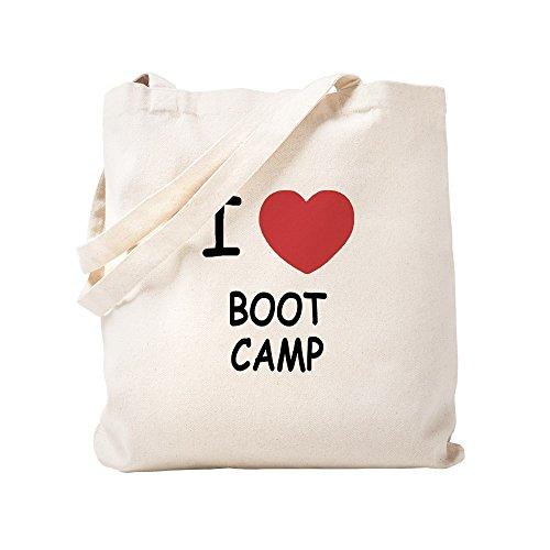 CafePress - I Heart Boot Camp - Natural Canvas Tote Bag, Cloth Shopping Bag by CafePress
