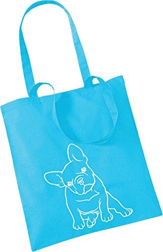 Engomadas Francés Bulldog Pequeñas Bolso Mano Bastante Etiquetas De Azul qxgB7Z