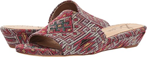 Sam Edelman Women's Liliana Demi Wedge Slides, Red Multi, 6 M US