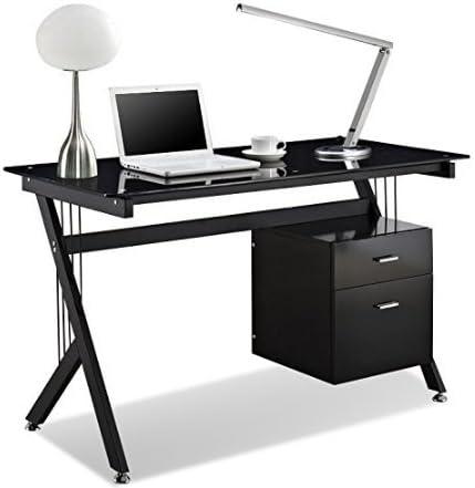 Popamazing blanco/negro escritorio de cristal, PC, mesa para ...