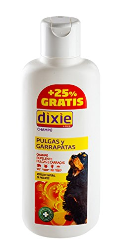 Champu repelente perros DIXIE 438 ml pulgas, garrapatas USO FRECUENTE buen olor