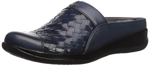 SoftWalk Women's Salina Woven Mule, Navy Denim, 5.5 M US