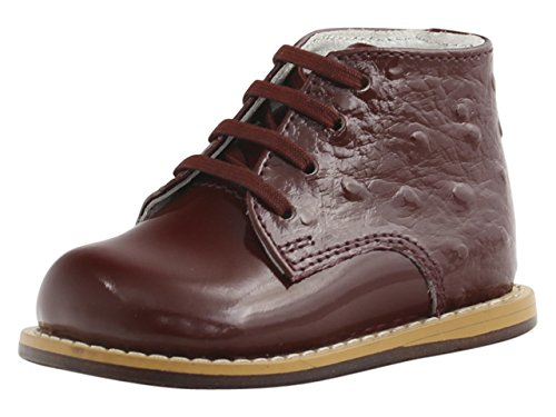 Toddler Patent Footwear Burgundy (Josmo Infants/Toddlers 8190 Boot,Burgundy Patent Ostrich,US 5.5 M)