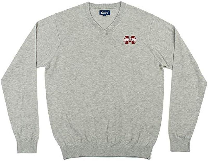 Oxford NCAA Męskie Pullover Candler Long Sleeve V-Neck, Męskie, Men's Candler Long Sleeve V-Neck Sweater: Sport & Freizeit