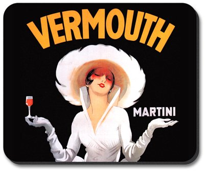 Vermouth Martini Mouse Pad - By Art Plates
