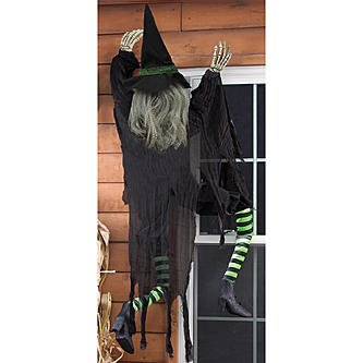 5' Climbing Witch Halloween Décor