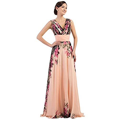 Graceful Evening Prom Gowns for Women V-neck Plus Size 24 CL7502
