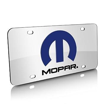 Mopar Logo Und Namen Einlage Auf Spiegel Acryl Nummernschild Amazon