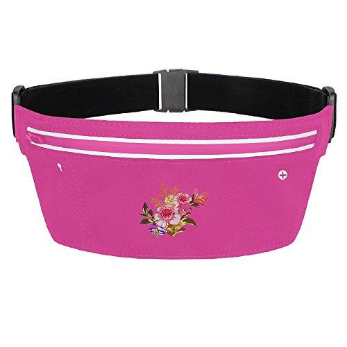 Running Belt Waist Pack Flower Tree Waterproof Bag With Adjustable Elastic Strap For Women