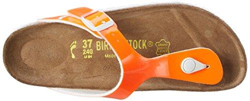 Birkenstock Gizeh Birko-Flor - Sandalias de dedo Mujer Naranja - Orange (Neon Orange Lack)