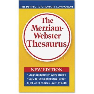 Merriam Webster 850 Paperback Thesaurus Dictionary Companion, Paperback, 800 Pages (MER850)