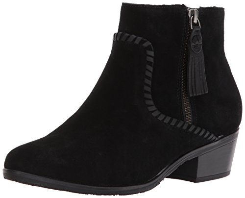 Jack Rogers Womens Dylan Waterproof Ankle Boot Black Suede