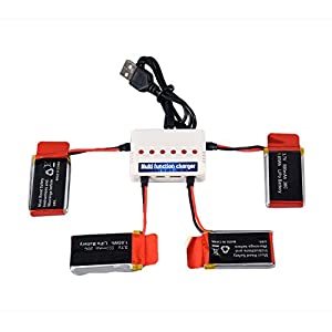YouCute 4pcs 3.7V 500mAh Upgraded Battery and 1to6 charger for Udi U45 U42 U42W RC quadcopter drone spare parts - 41Erh0xICSL - YouCute 4pcs 3.7V 500mAh Upgraded Battery and 1to6 Charger for UDI U45 Raven U45W Blue Jay U42 U42W U42WH CW4 Blue Jay Raven RC Quadcopter Drone Spare Parts(4PCS 500mAh Batteries +Charger)