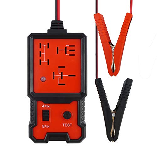Automotive Relay Tester, Diagnostic, Test and Measurement Tools,Code Readers and Scan Tools,Test Relay Open and Close,with LED Light-Black and Red