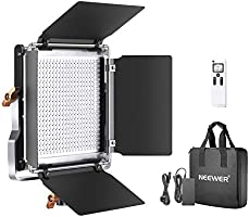 Neewer Advanced 2.4G 480 LED Video Light, Dimmable Bi-Color LED Panel with LCD Screen and 2.4G Wireless Remote for...