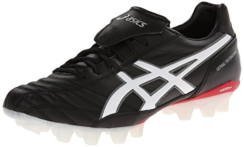 Asics Men's Lethal Testimonial 3 IT Soccer Shoe,Black/White/Blood,8.5 M US