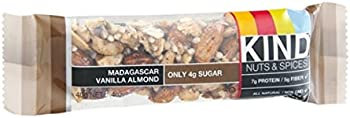 KIND Nuts & Spices, Madagascar Vanilla Almond, 12 Count