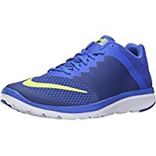 Nike Mens Fs Lite Run 3 Deep Blue Royal / Volt / Racer Blue / White Scarpe Da Corsa, M / 14 D (m) Us
