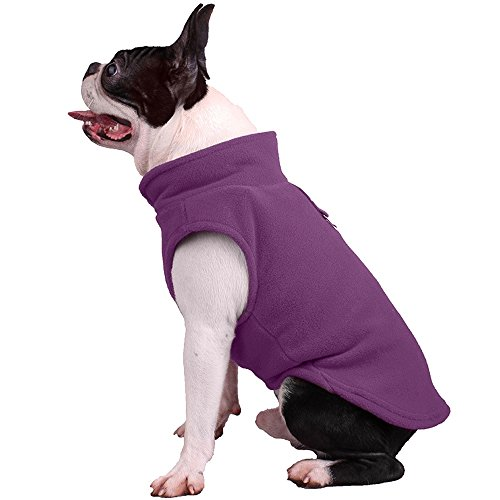 - Dog Jacket, Cold Weather Dog Fleece Coat Vest Shirt for Small Medium Dogs, Pull Over, O Ring Attached(8 Colors, 4 Sizes)