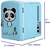 (4L/6Can Panda Blue Mini Refrigerator Ship from US) Portable Fridge & Warmer,Bedroom Mini Fridge For Bedroom,Electric Cooler for Car Refrigerator For Car,Office Refrigerator For Office