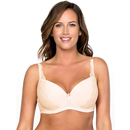 Decatur Counter - Sexy Push Up Bra Lace Bra T-Shirt Bra Plus Size Women Very Support Underwire Bralette Black/Khaki