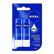 NIVEA Lip Care Essential Duo Pack, 2 x 4.8g