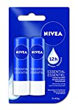 NIVEA Lip Care Essential Duo Pack, 2 x 4.8g