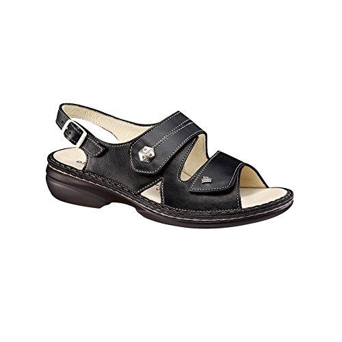 Finn Comfort Women's Milos Soft Sandal,Black Nappa,41 EU (US Women's 10 ()