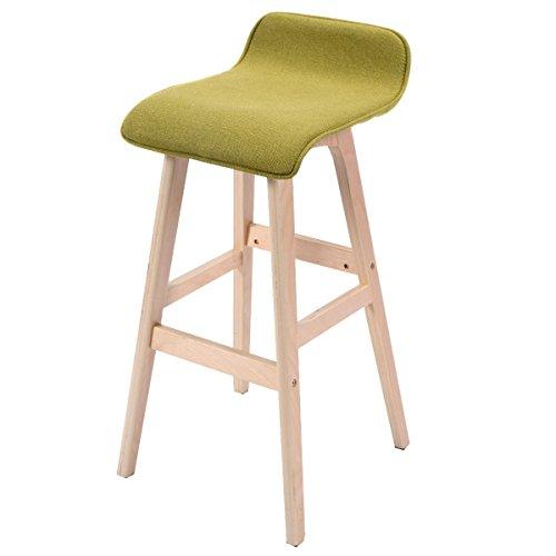 Apontus Modern Wood Linen Bar Stool Dining Counter Barstools High Chair Furniture Green (Bar Furniture Ebay)