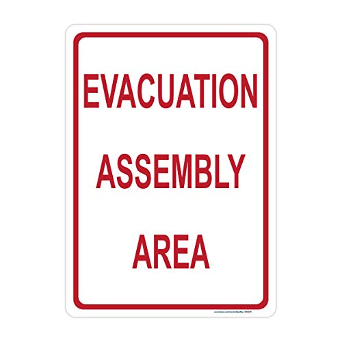 Evacuation Assembly Area Sign, Includes Holes, Reflective 3M Quality, Laminated-Durable-Aluminum 10