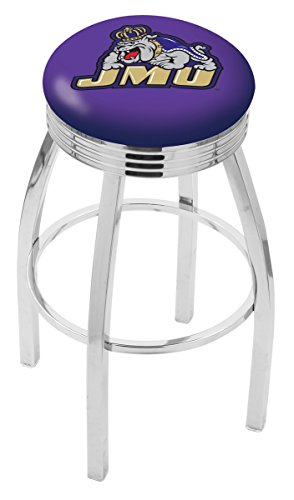 UPC 071235150402, Holland Bar Stool L8C3C James Madison University Swivel Counter Stool, 25""