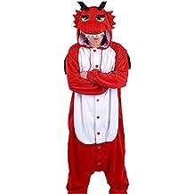 WOTOGOLD Animal Cosplay Costume Dragon Unisex Adult Pajamas Red