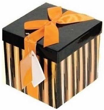 Cajas de regalo negras y amarillas con cintas 1: Amazon.es: Oficina y papelería