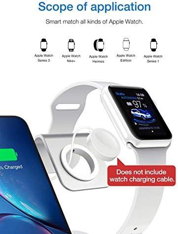 YUHT USB Stazione Ricarica, Caricabatterie Wireless, Multi Caricatore 5-in-1 Porte USB per iPhone,iPad, Samsung, Smartphone