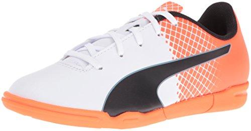 PUMA Kids' Evospeed 5.5 IT JR Soccer Shoe, Puma White/Puma Black, 1.5 M US Little Kid (Shoes Kids Soccer Puma)
