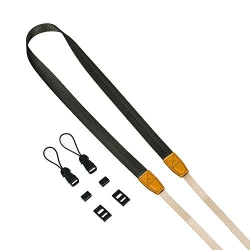 DOROM Universal Adjustable Slim Shoulder Sling Neck Strap for All Camera DSLR SLR (Grey)
