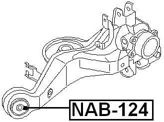 555014N000 Arm Bushing Rear Assembly For Nissan 55501-4N000